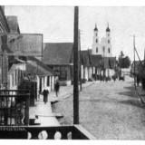 Улица Костёльная в городе Дятлово в 1921 году